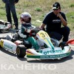 А.Ткаченко на старте со своим тренером и отцом